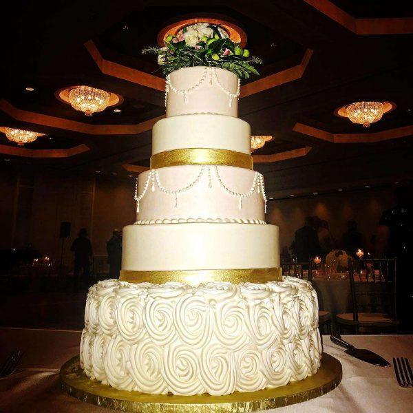 5 Tier Wedding Cake by Montilio's