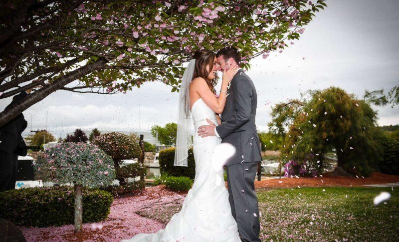 Bride and Groom Danversport Waterfront Weddings