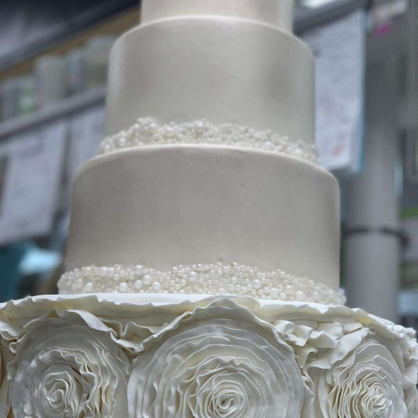 Montilio's Ivory Wedding Cake