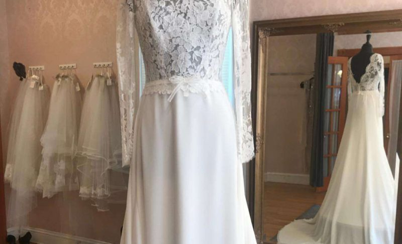 Wedding Gown with sleeves La Reine Bridal