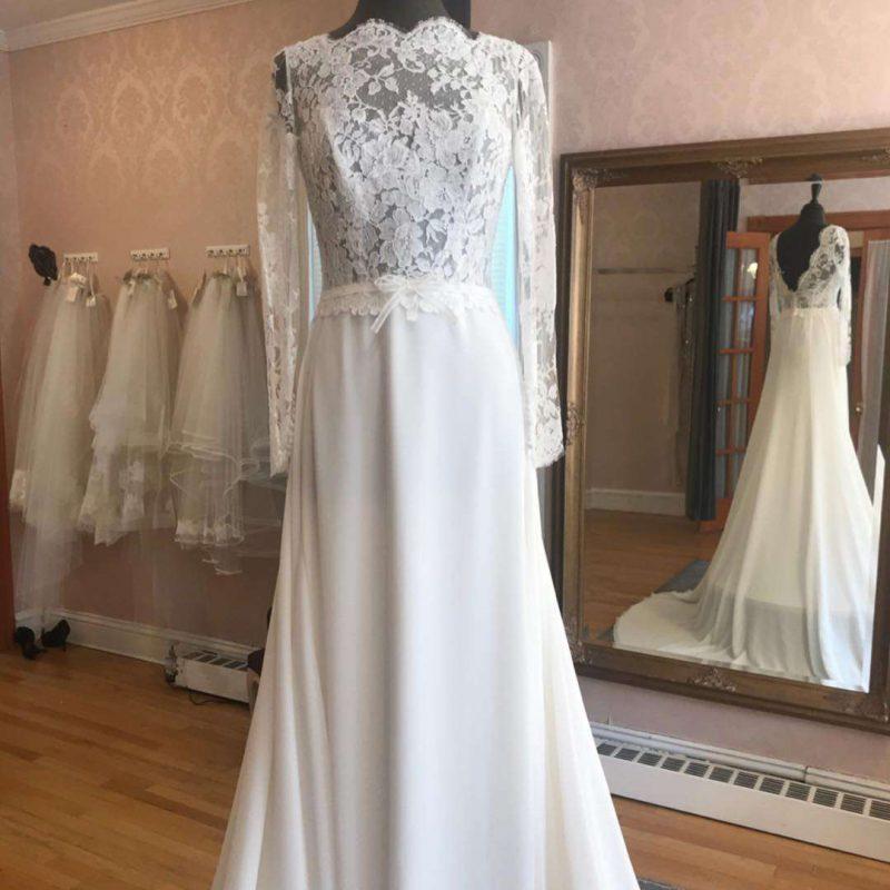 Wedding Gown with sleeves La Reine Bridal