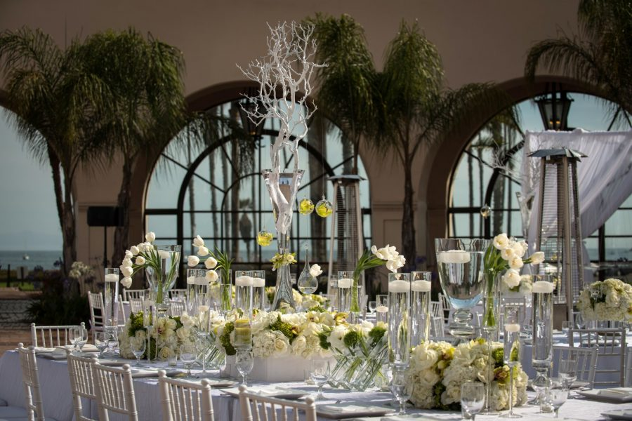 decorated wedding reception