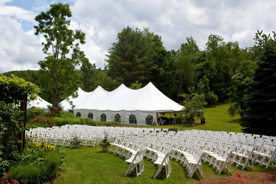 outdoor tented wedding venue