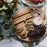 Appetizer platter for wedding reception