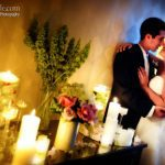 Using candles to create unique and romantic photos