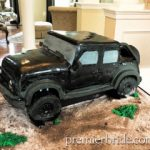 Groom's Cake with Jeep theme