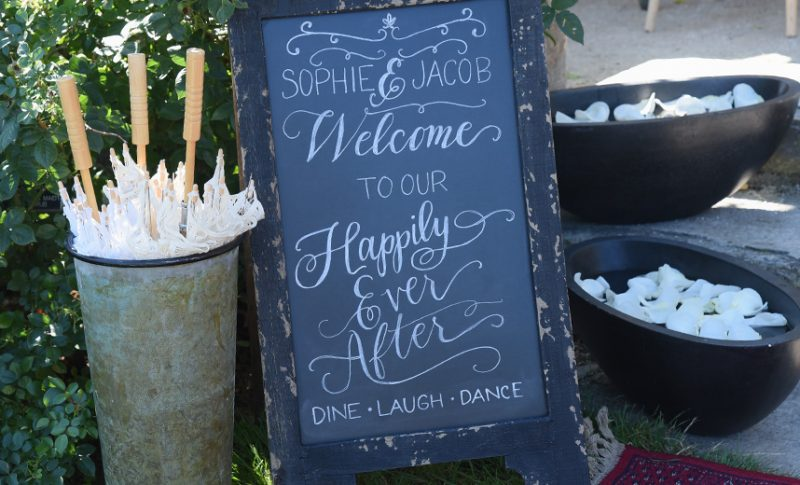 Local Wedding Resources Calligraphy Chalkboard