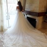 Gorgeous wedding gown with long train