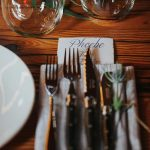 Flatware for rustic wedding