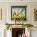 Marble Fireplace with colorful florals