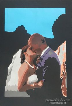 Personalized wedding artwork by Sloan Fine Art