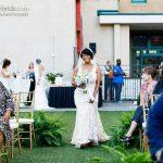 Bride enters her surprise wedding
