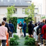 Couple marries outside The Stoneleigh